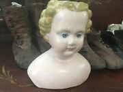 Rare Early Antique Paper Mache M And S Superior 2015 Shoulder Head Doll Or. Label