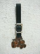 Antique Rumely Threshers Watch Fob Oil Pull Tractor Original, Nice With Leather