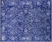 Handmade Wool And Silk Rug 8and039 1 X 9and039 11 - Q8693
