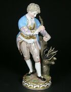 Meissen Figure Model F 69 'young Man Grafting A Tree' Late 19th.