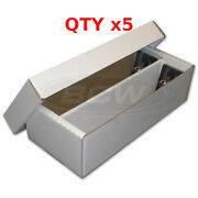 5 Bcw 1600 Ct. 2 Row Shoe Box Collectible Game Sport Card Board Storage Box