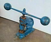 Invincible No.1 Table Modern Top Die And Plate Press Vintage Antique Rare