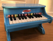 Melissa And Doug Learn-to-play Piano 25 Keys Boys Girls Musical Toy Blue