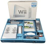 Nintendo Wii White Console Complete Controllers Wii Sport Sensor Bar And Cables