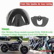 Front Chin Fairing Mudguard Spoiler For Harley Dyna Softail Fxdl Fxdb Fxdc 06-up
