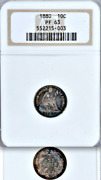 1880 Ngc Pr63 Mintage 36,000 + 1,355 Proof, 2nd Lowest 1880-2018 Seated Dime 10c