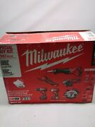 Milwaukee M18 6-tool Combo Kit 2697-26 With Batteries Charger Full Kit
