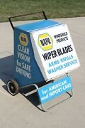 Vintage Napa Auto Cabinet Windshield Wiper Store Display Metal Gas Station Sign