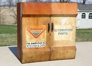 Vintage Wagner Parts Tool Cabinet Box Auto Gas Station Hanging Tool Box Storage