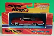 1967 Pontiac Gto - K-208 Matchbox Super Kings Limited Edition Only 20 500 New