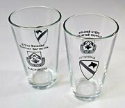 215th Bsb Blacksmiths - Pint Beer Glasses Set Of 2 - 1st Cavalry - Us Army