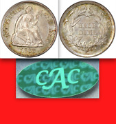 1868-s Pcgs Ms64 Cac Ms65 Seated Half Dime Undervalued Semi-key 5c Choice Rare