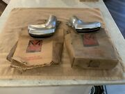 Nos Pair Of 1955, 1956 Mercury Exhaust Tips / Outlets