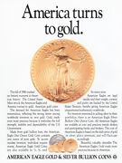 1987 American Eagle Bullion Coins America Turns To Gold Vintage Print Ad