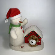 Hallmark 2011 Jingle Pals Snowman With Dog In Doghouse Animated Plush See Video