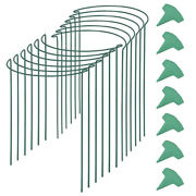 1x12 Packs 15.7 Inches Half Round Garden Plant Support With 15 Pcs Plant Labels