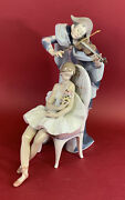Lladro 5932 Jesterand039s Serenade Sold Out In 1994 15 High In Original Box