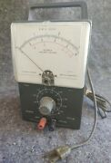 Vintage Simpson Electric Co Chicago Ohms Meter Electrical Measuring Instrument