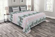 Ambesonne United States Bedspread Vintage American Flag On Wooden Planks Wall B