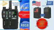 Set Of Two Retevis Rb18 Frs/gmrs 2 Watt Two-way Radios Plus Free Molle Bag