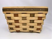 Longaberger Act American Craft Traditions Large Berry Basket W/ Protector 2006