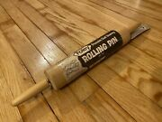 """Rare New Vintage Foley Wooden Rolling Pin 17"""" Dough Roller Pastry Roller"""