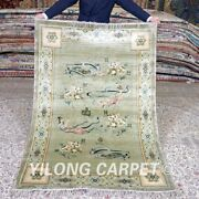 Yilong 4and039x6and039 Tapestry Silk Handmade Area Rug Antique Hand Craft Carpet Mc455b