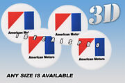 American Motors Wheel Cap Domed Decals Emblems Stickers C/w Any Size