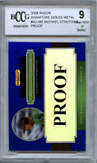 Giancarlo Stanton Mike 2008 Razor Metal Blue Proof Rookie 1 Of A Kind Bgs Bccg 9