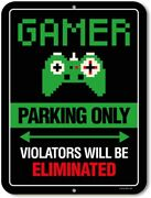Parking Only Violators Will Be Eliminated Metal Aluminum Novelty Tin Sign