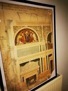 Antique Arts And Craft X2 Architectural Drawing Painting Art Amor Fenn