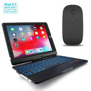 Smart Wireless Bluetooth Keyboard Case Back-lit Pencil Holder For Ipad Air 3 2 1