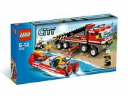 Lego 7213 City Set Offroad Fire Truck And Fireboat