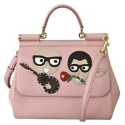 Dolce And Gabbana Bag Sicily Pink Leather Dgfamily Borse Satchel Hand Rrp 2500