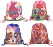 Birthday Trolls Decoration Drawstring Non-woven Fabric Dream Quest Gifts Bags