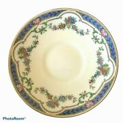Antique Service For 12 Minton Ripon Blue China Gravy Boat And Platters Included
