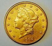 1904-s 20 Gold Double Eagle Coin