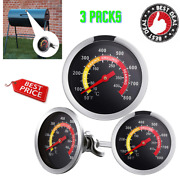 Bbq Temp Gauge Temperature Heat Display 3pcs Thermometer For Charcoal Gas Grill