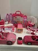 Mattel Barbie Glam Getaway Portable Doll House, Vanity And Convertible Cars