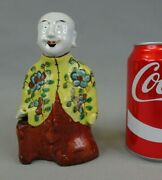 Antique Chinese Famille Rose Porcelain Ho Ho Laughing Boy Figurine 18th 19th C 3