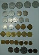 Lot Of 37 - French Vintage Coins