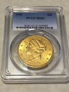 1902 20 Pcgs Ms61 Liberty Double Eagle Gold Coin Very Nice Rare P-mint