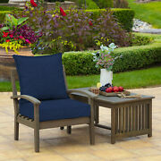 Blue Outdoor Deep Seat Chair Patio Cushions Set Pad Porch Furniture Uv Resistant