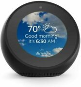 New Echo Spot Black With Alexa Voice Smart Assistant Lcd Touchscreen