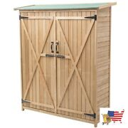 Garden Structures And Shade 64 Wooden Storage Shed Outdoor Fir Wood Cabinet