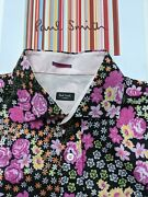 Bright Floral Paul Smith Men's Shirt - Size Med / Large 16.5 Really Cool And Rare