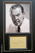 Sidney Tolercharlie Chan Original Hand Sign Card With Photo Classic Series
