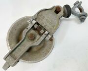 Vintage Sherman And Reilly Usa Xs100a Xs-100-a Aluminum Stringer Pulley System