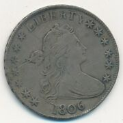1806 Draped Bust Silver Half Dollar-pointed 6-strong Details Nice Ships Free