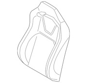 Genuine Ford Seat Back Cover Fr3z-6364416-bc